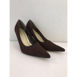 🔵 Charlotte Russe Brown Pointed Toe Pumps